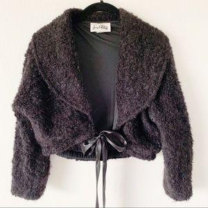 Joseph Ribkoff Black Mohair Cropped Dressy Jacket
